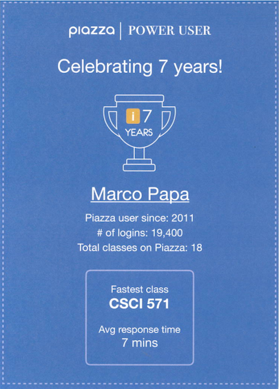 Celebrate 7 years of Piazza